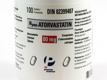 Generic Lipitor by PharmaScience in Canada